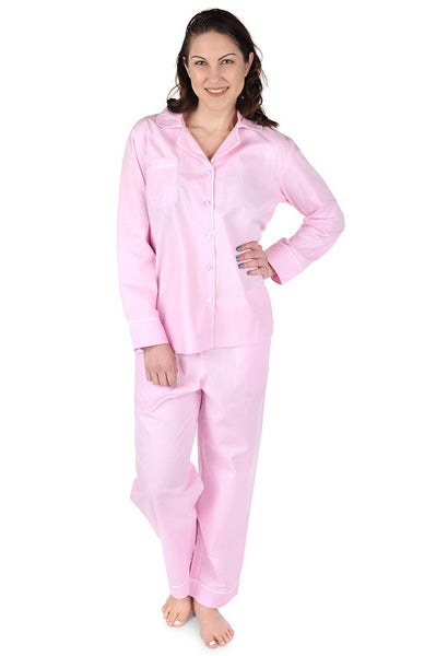 Blush Pink Cotton Poplin Pajama Set