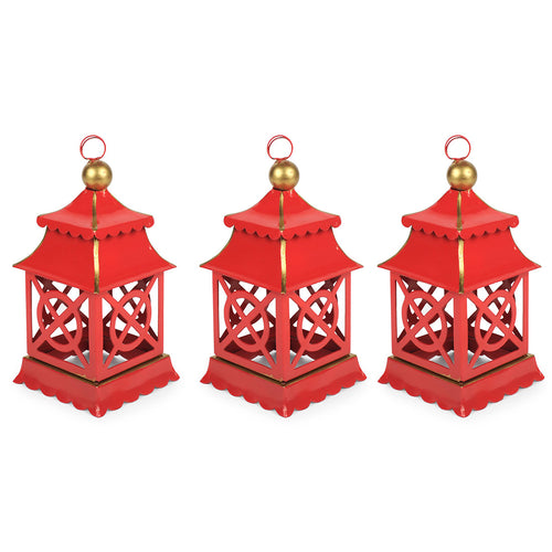 Shanghai Red Set of 3 Ornaments