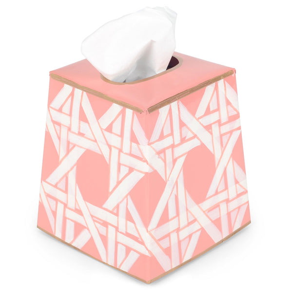 Cane Pink Tissue Box Cover