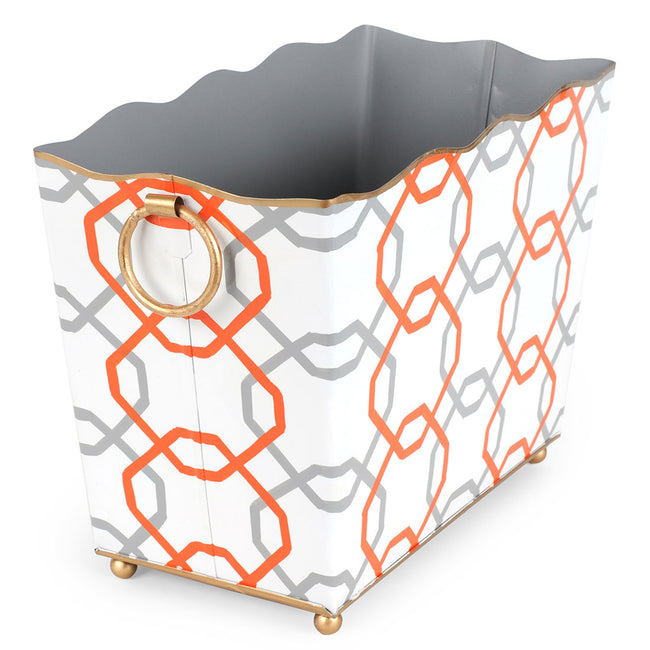 Squares Orange Magazine Holder