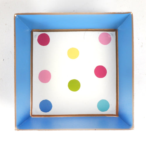 "Sample Multi Dot Cocktail Napkin Tray ""As-Is"""