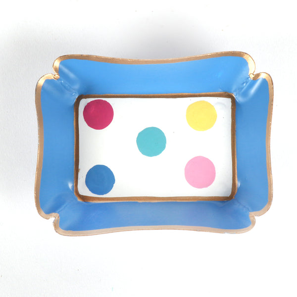 "Sample Multi Dot Trinket Tray ""As-Is"""
