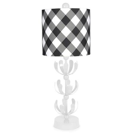 Black Buffalo Plaid Green J'adore Lamp