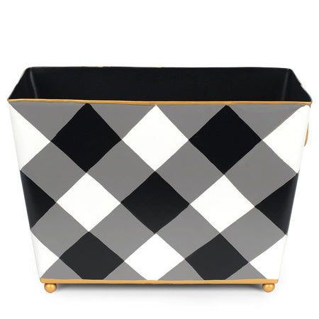 Buffalo Plaid Large Oval Wastebasket