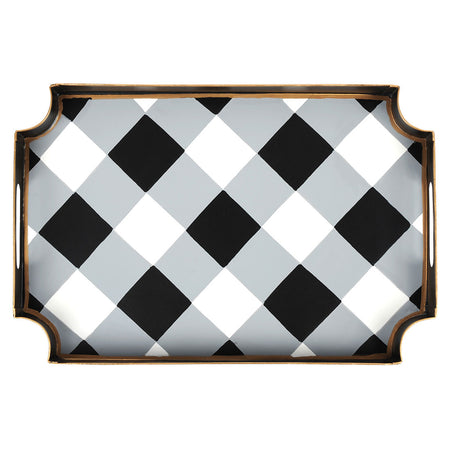 Buffalo Plaid Cocktail Napkin Tray