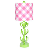 Pink Buffalo Plaid Green J'adore Lamp