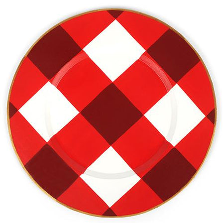 "Buffalo Plaid Round Placemat 15"" (4pk)"