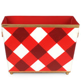 Red Buffalo Plaid Magazine Holder