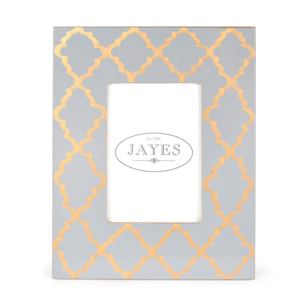 "Madeline Grey Gold 4""x6"" Picture Frame"