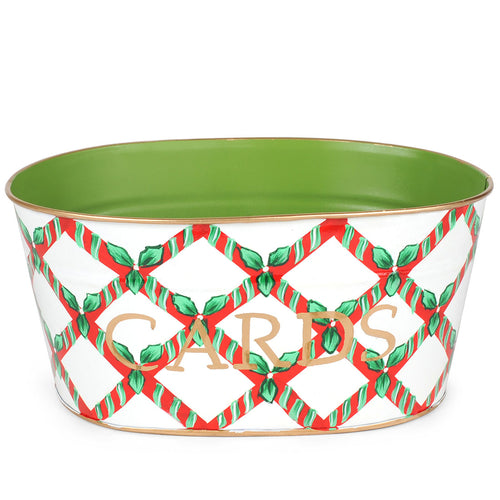 Candy Cane Trellis Cards Tub
