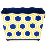 Honeycomb Yellow Rectangle Magazine Holder