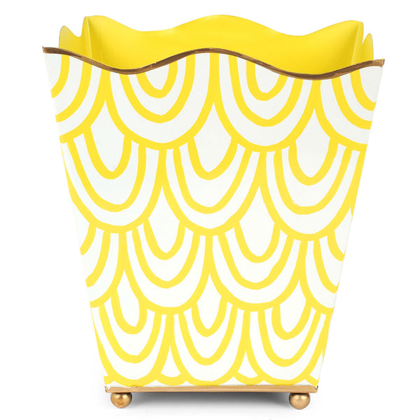 Scales Yellow Square Wastebasket