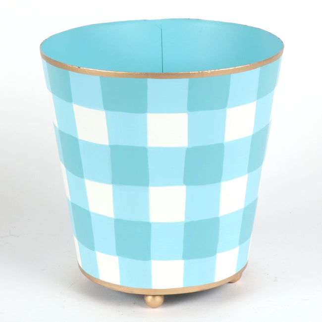 "Sample Gingham Cachepots ""As-Is"""