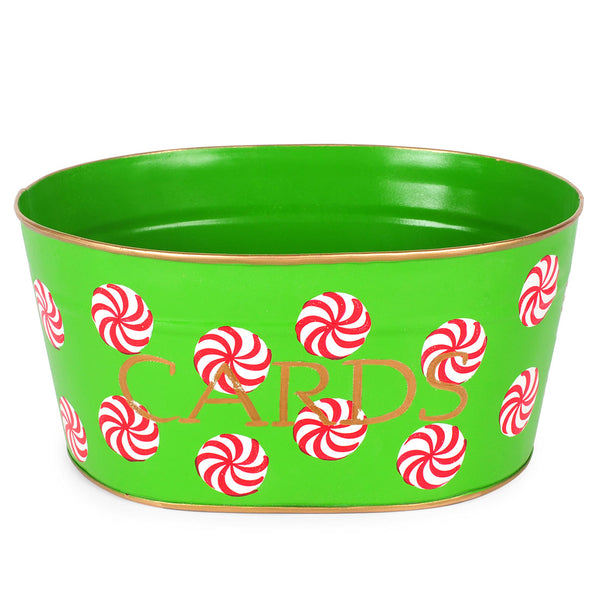 "Peppermint Green ""CARDS"" Tub"