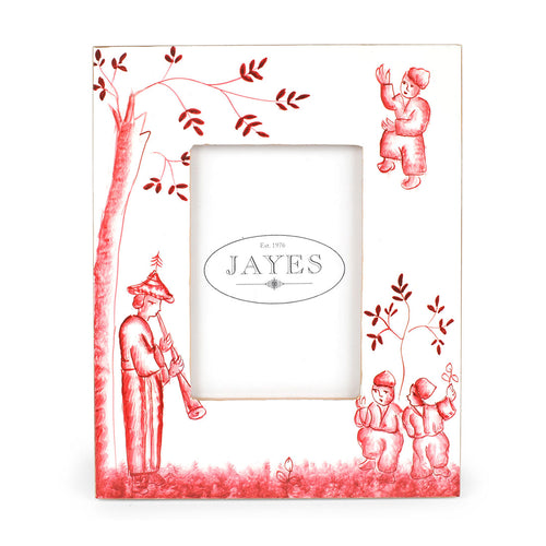 "Chinoiserie Red 4""x6"" Picture Frame"