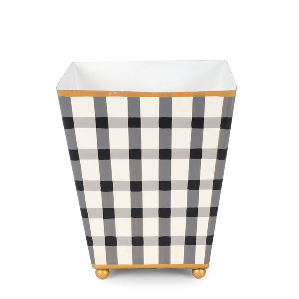 "Gingham 4"" Square Cachepot"