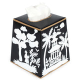 Shanghai Black Tissue Box Cover