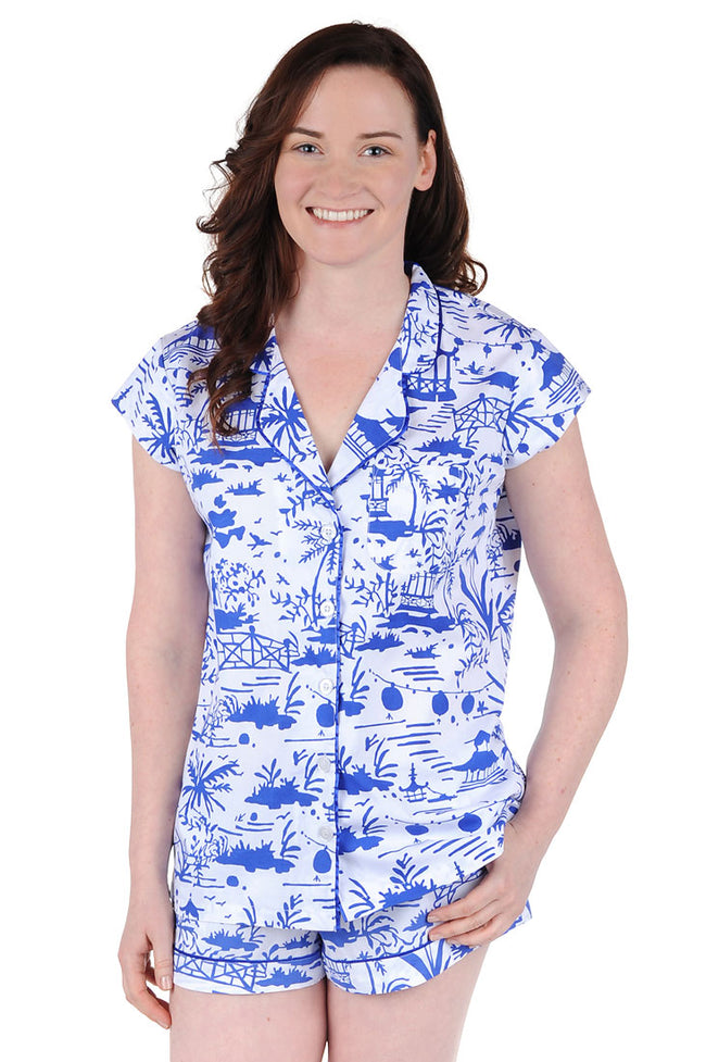Shanghai Cotton Poplin Summer Pajama Set