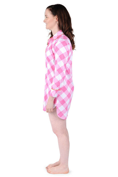 Buffalo Check Cotton Poplin Sleep Shirt