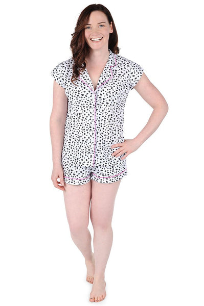 Spot On Cotton Poplin Summer Pajama Set