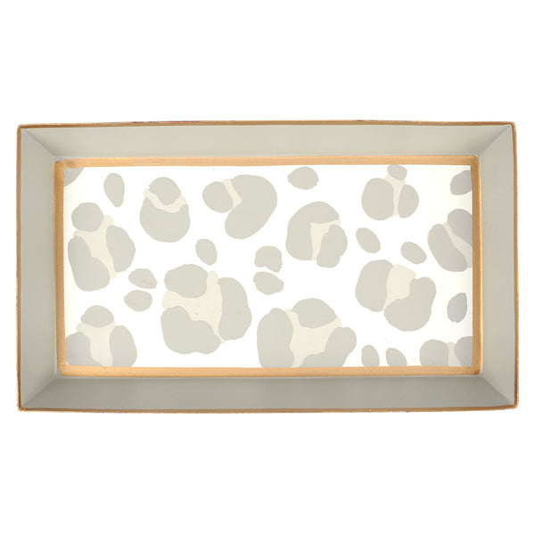 Cheetah Taupe Guest Towel Tray