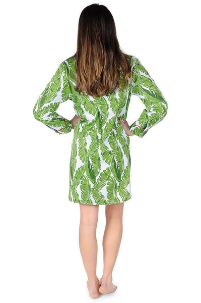 Banana Leaf Sateen Sleep Shirt