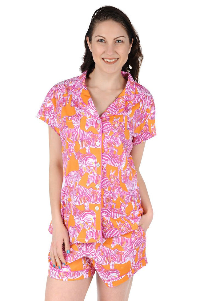 Serengeti Cotton Poplin Summer Pajama Set