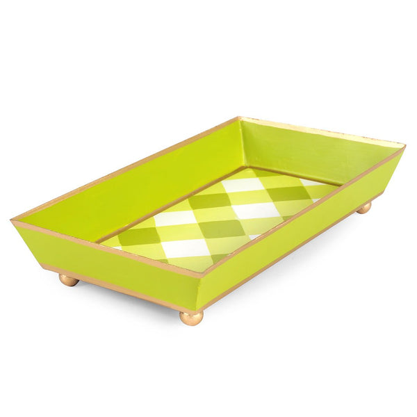 Gingham Guest Towel Tray
