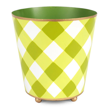Color Block Round Cachepot