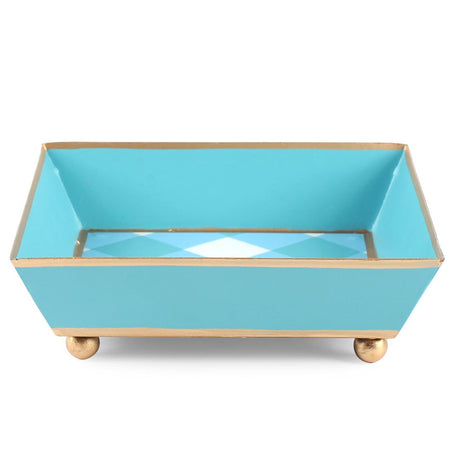 Color Block Bamboo Tray 6x6