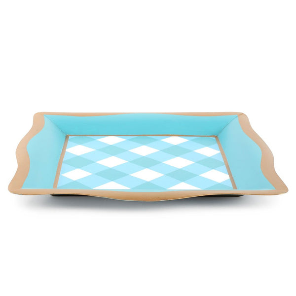 Gingham Social Tray