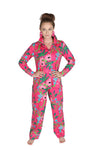 Botanica Pink Sateen Full Pajama Set