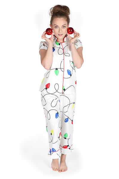 Tis the Season Sateen Capri Pajama Set