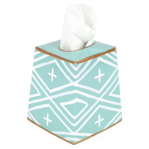 Maize Mint Aqua Tissue Box Cover