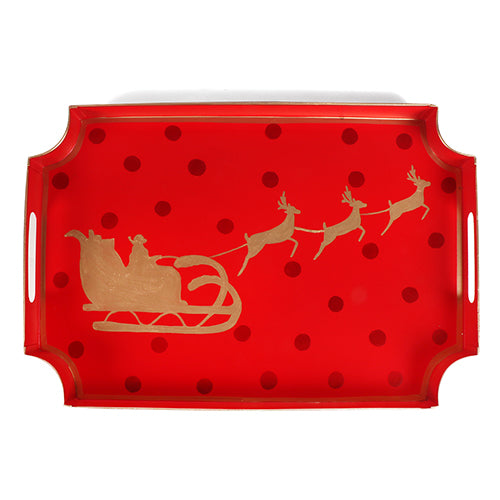 "Sample Holiday Sleigh Jaye Tray ""As-Is"""