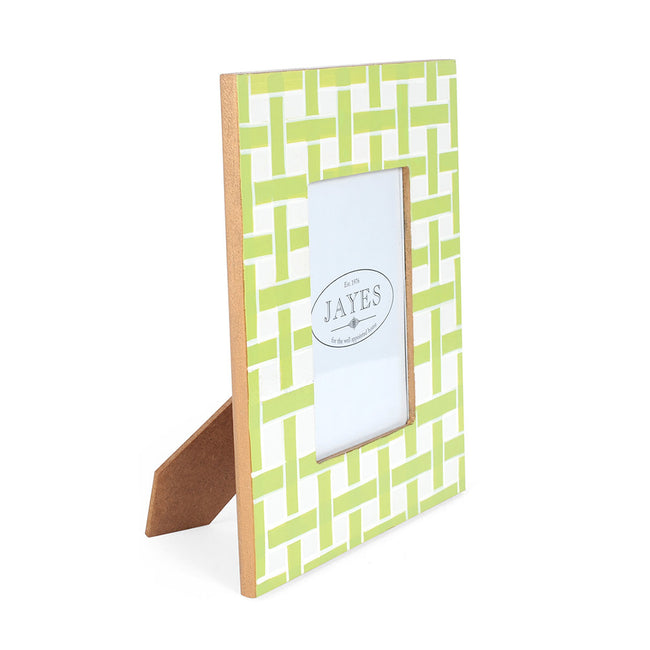 "Basketweave Green 4""x6"" Picture Frame"