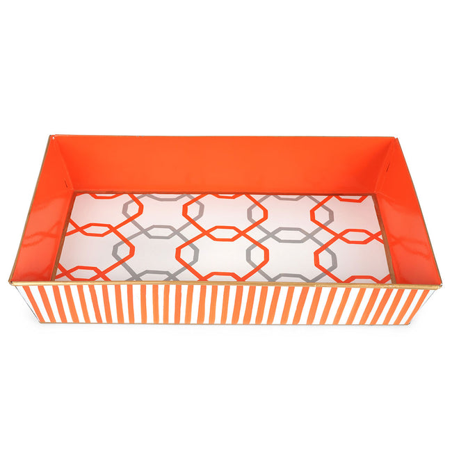 Sqaures Orange Organizing Tray