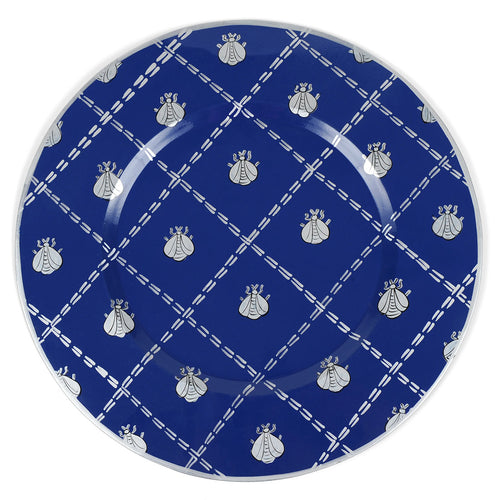 "French Bee Navy 14"" Charger Plate 4-Pack"