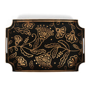 Floral Silhouette Black Jaye Tray