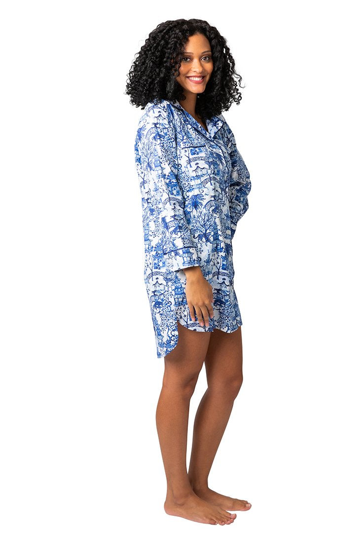 Garden Party Sateen Sleep Shirt