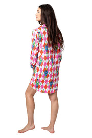Preppy Nutcracker Sateen Sleep Shirt
