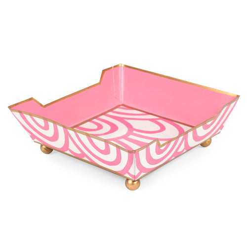 Scales Pink Cocktail Napkin Tray