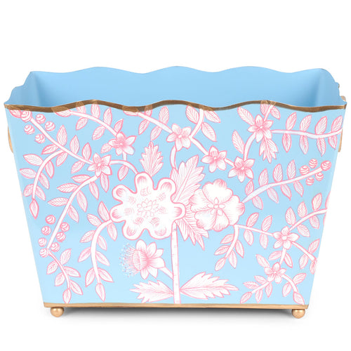 Floral Toile Rectangle Magazine Holder