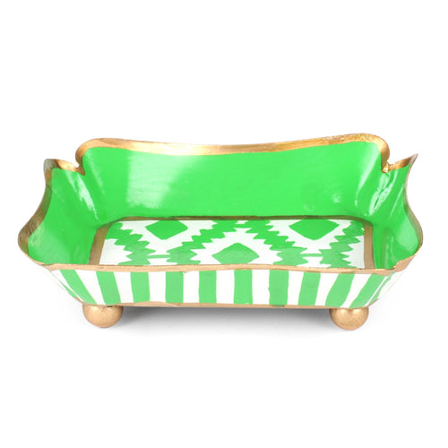 Aztec Green Trinket Tray