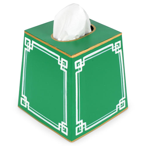 Interlocking Key Green Tissue Box Cover