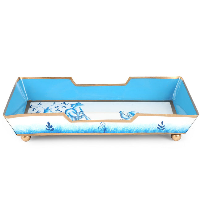 Chinoiserie Blue Guest Towel Tray