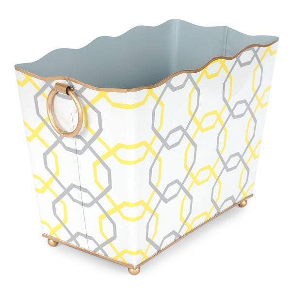 Squares Yellow Rectangle Magazine Holder