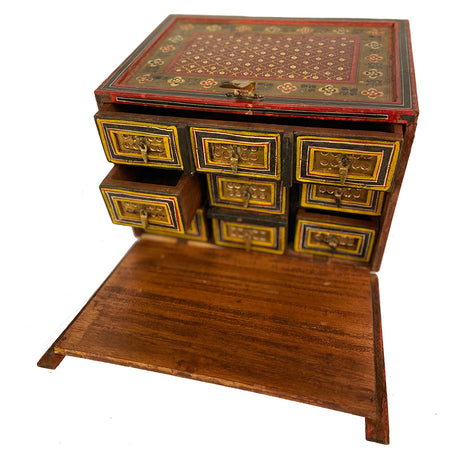 Antique 3 Drawer Jewelry Box