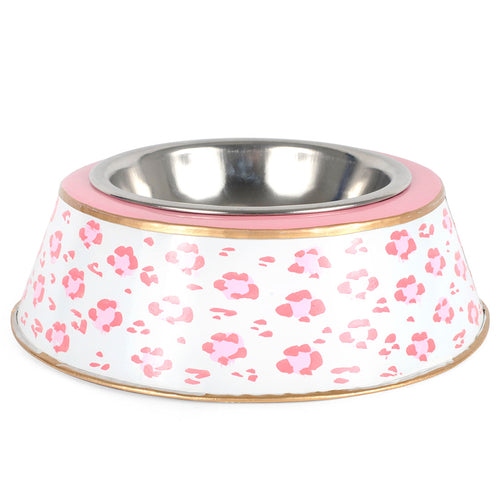 Leopard Pink Large Dog Bowl