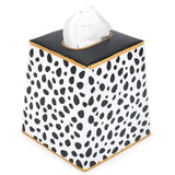 Spot On Black Tissue Box Cover